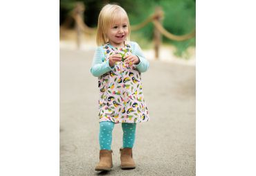 FRUGI H19 robe velour pink tweet
