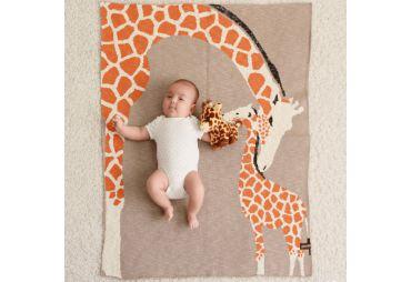 QUSCHEL couverture girafe 80/100