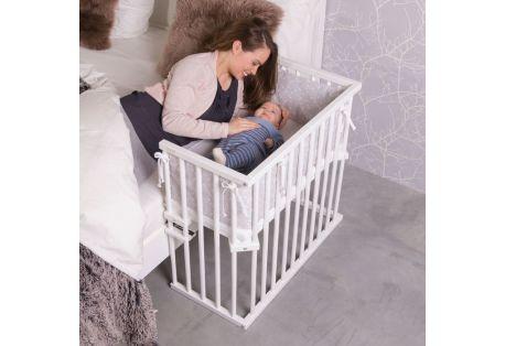 BABYBAY Lit Midi Vernis Blanc