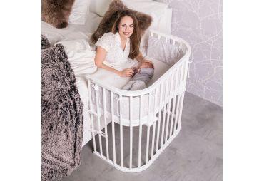 BABYBAY Lit Boxspring Vernis Blanc