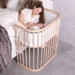 BABYBAY Lit Boxspring Naturel non traité