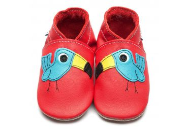 Inch Blue Chaussons Terry Toucan Red