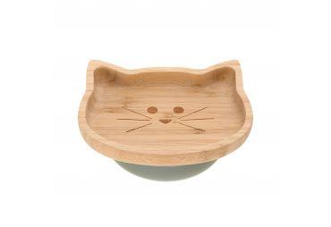 LASSIG Assiette en Bamboo Petit Chat