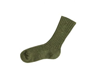 Chaussettes laine douce vert Joha
