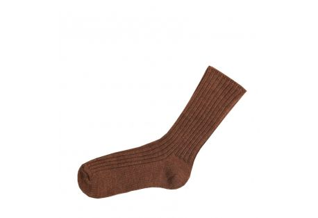 Chaussettes laine douce caramel Joha