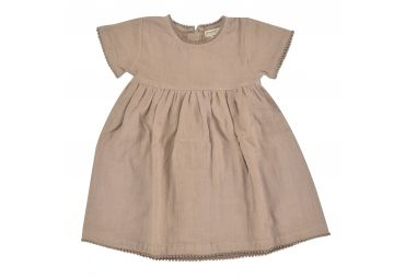 PIGEON E21 robe jolie mousseline taupe