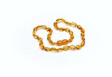 COEUR D'AMBRE collier ovale miel