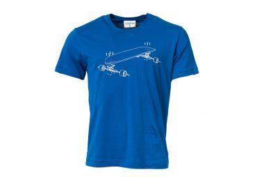 MUNOMAN H21 T-shirt longboard blue