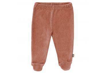 FRESK Pantalon velours avec pieds rose