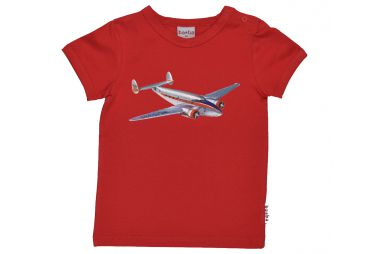 T SHIRT ROUGE COTON BIO AVION