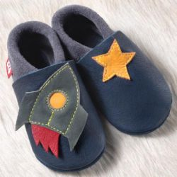 CHAUSSONS CUIR SOUPLE POLOLO FUSEE