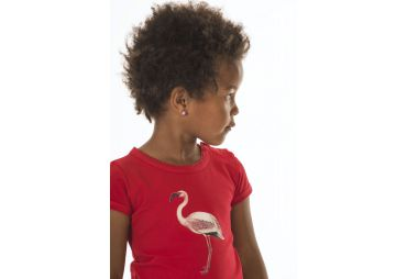 T SHIRT FLAMANT ROSE ROUGE