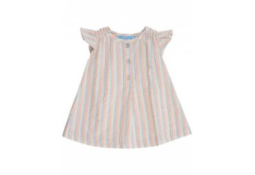 ROBE SMOCK PASTEL STRIPES