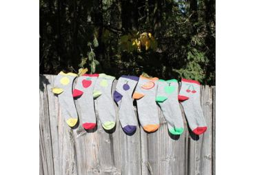CHAUSSETTES EN COTON BIO FRUITS (LOT DE 7 PAIRES)