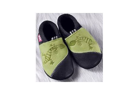 CHAUSSONS CUIR SOUPLE POLOLO GECKO