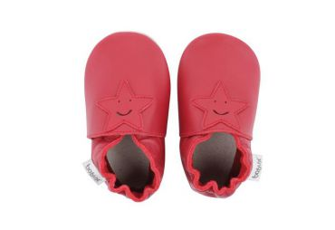 CHAUSSONS CUIR SOUPLE RED STAR