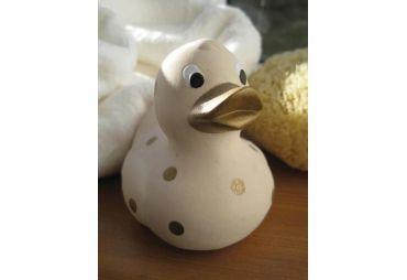 Canard de bain en caoutchouc beige