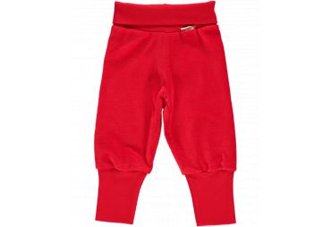 Pantalon rib velours rouge