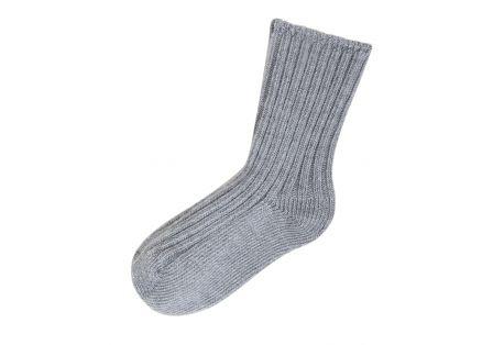 Chaussettes laine douce grises Joha