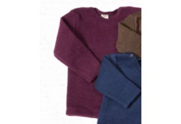 Pull laine fleece bordeaux