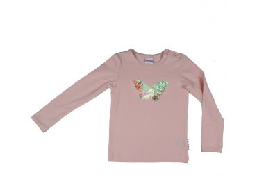 T shirt papillon rose