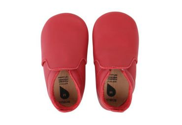 Chaussons cuir souple red loafer Bobux