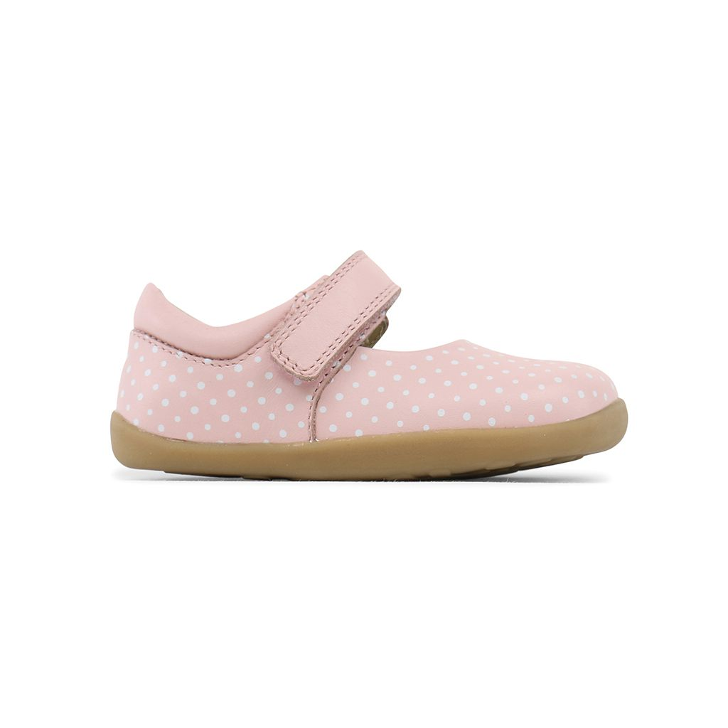 d9d87ed56dd21 BALLERINES BEBE STEP UP PETITS POIS ROSE
