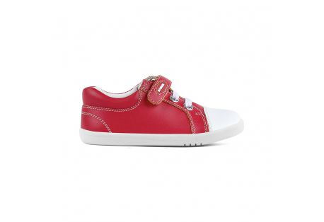 Baskets cuir eco Trouble Red