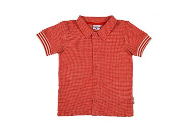 Chemise a manches courtes rouge