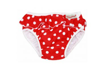 Maillot couche petits pois rouge