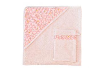 Cape de bain pebble pink