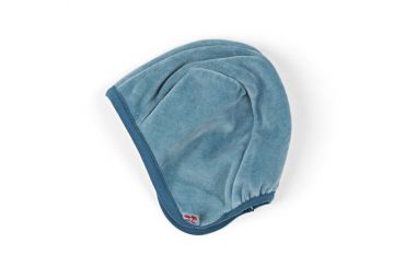 Bonnet bébé en velours Smoke blue