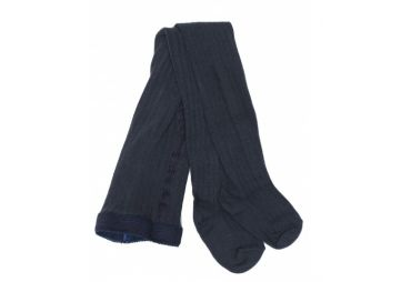 Collants en laine vierge NAVY