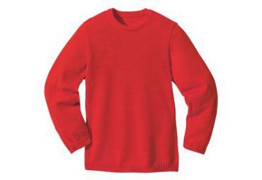 Pullover classique laine bio rouge
