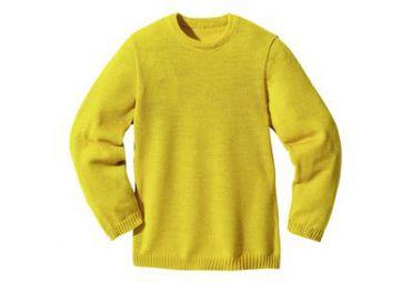 Pullover classique laine bio curry