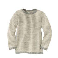 DISANA Pull Laine tricoté Gris clair