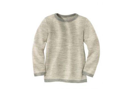 Pullover classique laine bio gris clair