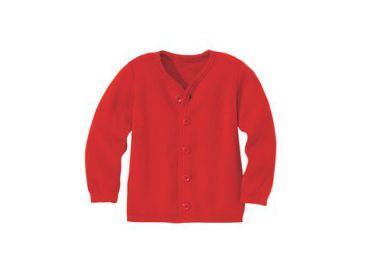 DISANA Cardigan Laine tricoté Rouge