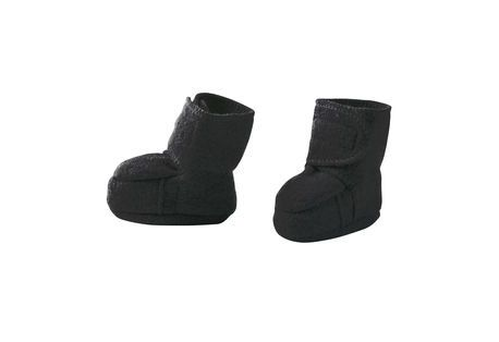 Chaussons laine bouillie anthracite