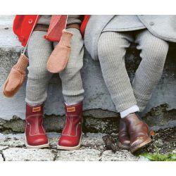 Legging laine Disana gris clair