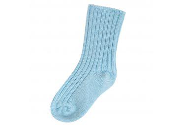 Chaussettes laine douce bleu ciel Joha