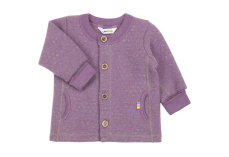 Cardigan en Laine Fleece Rose