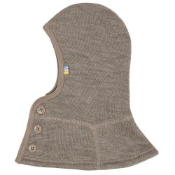Cagoule laine douce taupe