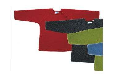 Pull laine fleece rouge