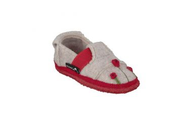 Pantoufles enfant en Laine Magic Poppy