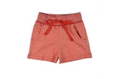 Short fille jacquard rouge