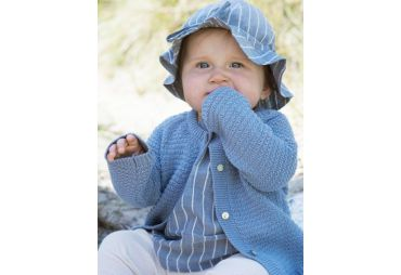 Cardigan en coton tricot Ashley blue
