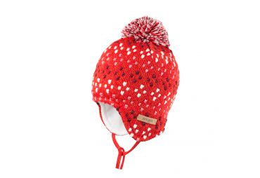 PURE PURE bonnet a pois rose et rouge