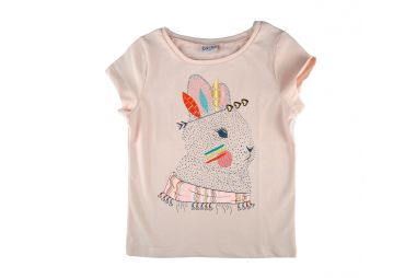 BABA E19 t-shirt lapin rose