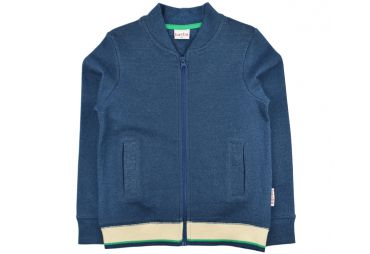 BABA E19 sweat à zip bleu